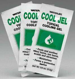 CoolJel Topical Cooling Jel Waterjel  6 Unit Dose Packets 1/8 oz USCG Approved