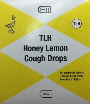 Cough Drops TLH Honey Lemon - Certified 241-011 - 50/Box
