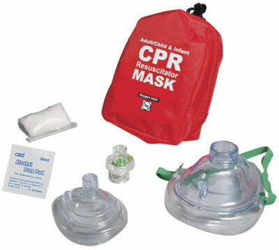CPR Adult/Child and Infant Resuscitator CPR Masks in Soft Red Case