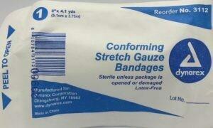 "Gauze Roll - Stretch - 2"" x 4.1 yards - Sterile - dynarex 515-041 - 1/pkg"