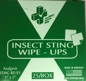 Insect Sting Wipe-Ups 25/Box 213-021 or 519-568