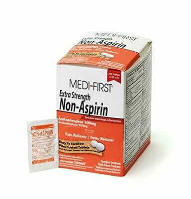 Medi-First 80448 Extra Strength Non-Aspirin  Acetaminophen 125-Packets of 2
