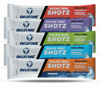 OVERTIME SHOTZ SINGLE SERVE 25/BOX (electrolyte replacement)