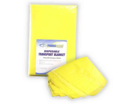 Primacare Yellow Foam Transport Blanket