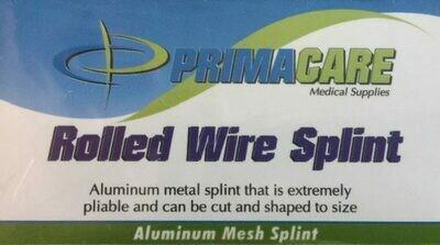 """Splint - 651 CG   Rolled Wired Splint - 3.5"""" x 30"""" - Certified 210-032 Coast Guard Approved"""