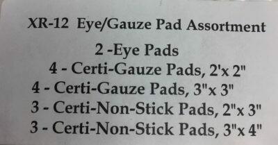 XR-12 Eye/Gauze Pad Assortment - Certified Safety