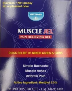 WaterJel Muscle Jel - Pain relieving jel 96 Unit Dose Packets