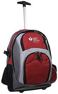 American Heart Association Rolling Backpack 15-1502