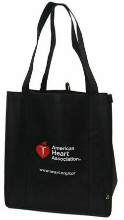 Tote Bag - American Heart Association Black Recycled Tote Bag 90-1500