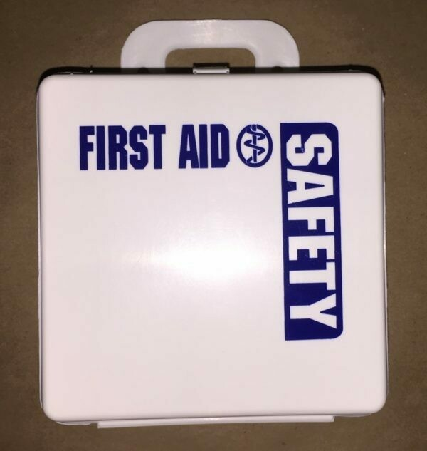 Empty Poly White 6 PW boxes First Aid - Safety printed on front - Certified 209-000