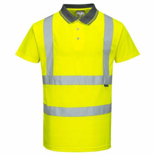 Clothing - Shirts - Hi-Vis Short Sleeve Polo (PORTWEST)