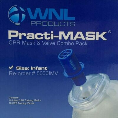 Practi-Mask Infant CPR Training Mask and Valve Combo Pack