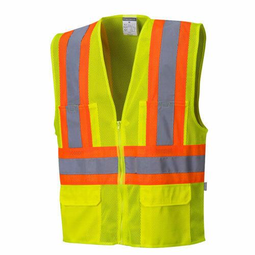Clothing - Vests - Tulsa Contrast Hi-Vis Mesh Vest (PORTWEST)