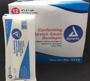 Conforming Stretch Gauze Bandages - Sterile - 4