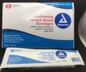 Conforming Stretch Gauze Bandage - Sterile - 6