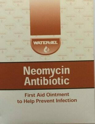 Waterjel Neomycin Antibiotic First aid ointmoent 144 Unit doses