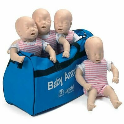 Laerdal Baby Anne® CPR Training Manikin 4-Pack (Light Skin) 050010