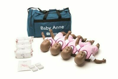 Laerdal Baby Anne® CPR Training Manikin 4-Pack (Dark Skin) (050012)