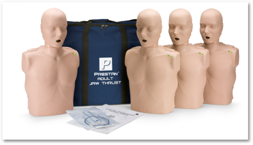 Prestan Professional Adult CPR-AED Training Manikin With Jaw Thrust Head and CPR Monitor ( Available in Multiple Skin Colors and Quantities)