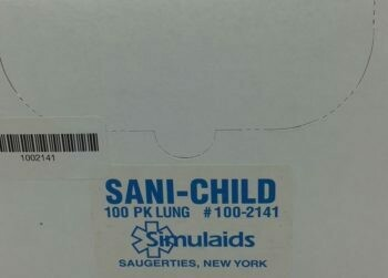 Simulaids Sani-Child  Lungs 100-2141 -  100/pkg