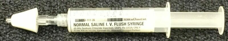 Naloxone (NARCAN) Training device (MAD Nasal Atomization Devise and Normal Saline I.V. Flush Syringe