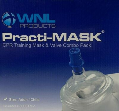 Practi-MASK® Adult/Child CPR Training Mask and Valve Combo Pack Part # 5000TMV