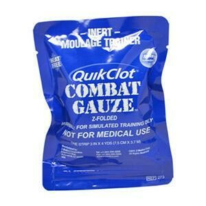 QuicClot Combat Gauze Z-Folded for Simulated Training (Not for use in emergencies)
