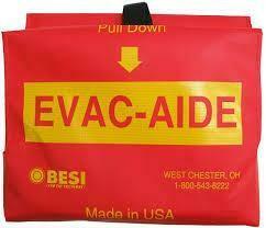 Emergency Transport Blanket - Evacuation Aide BESI 1003 w/ Nylon Case  Certified (604-058)