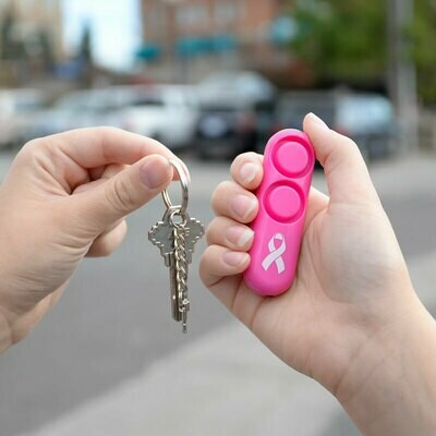 Personal Alarm with Key Ring PINK