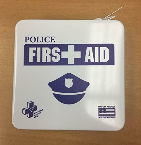 24M Police Department Metal First aid Kit Certified Safety