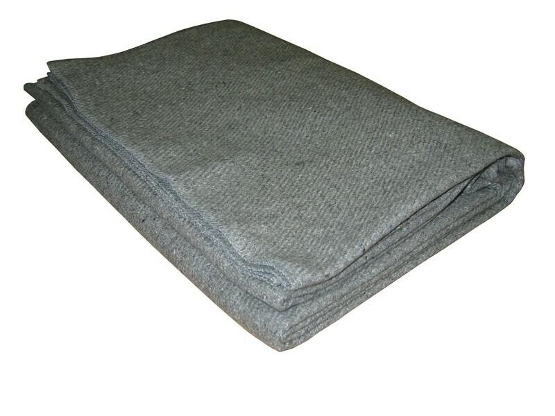 KEMP Gray Blanket 50% Wool