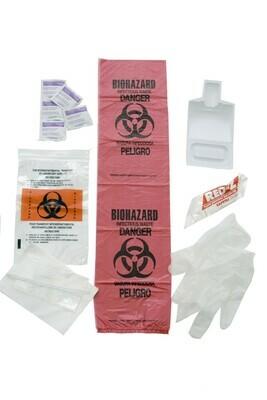 Bloodborne Pathogen Kit in Plastic Bag