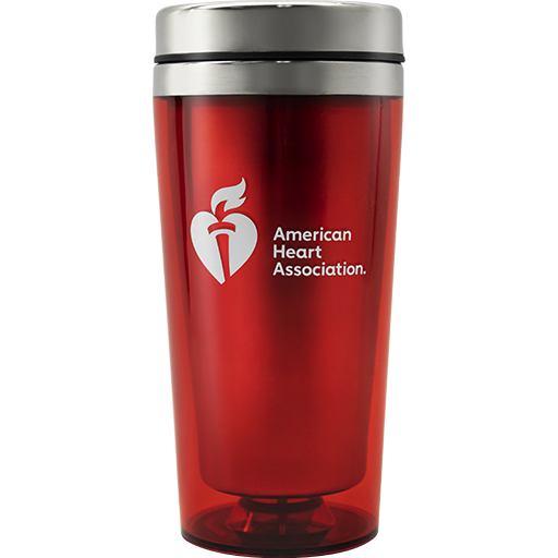 Red Travel Mug 70-2308 American Heart Association