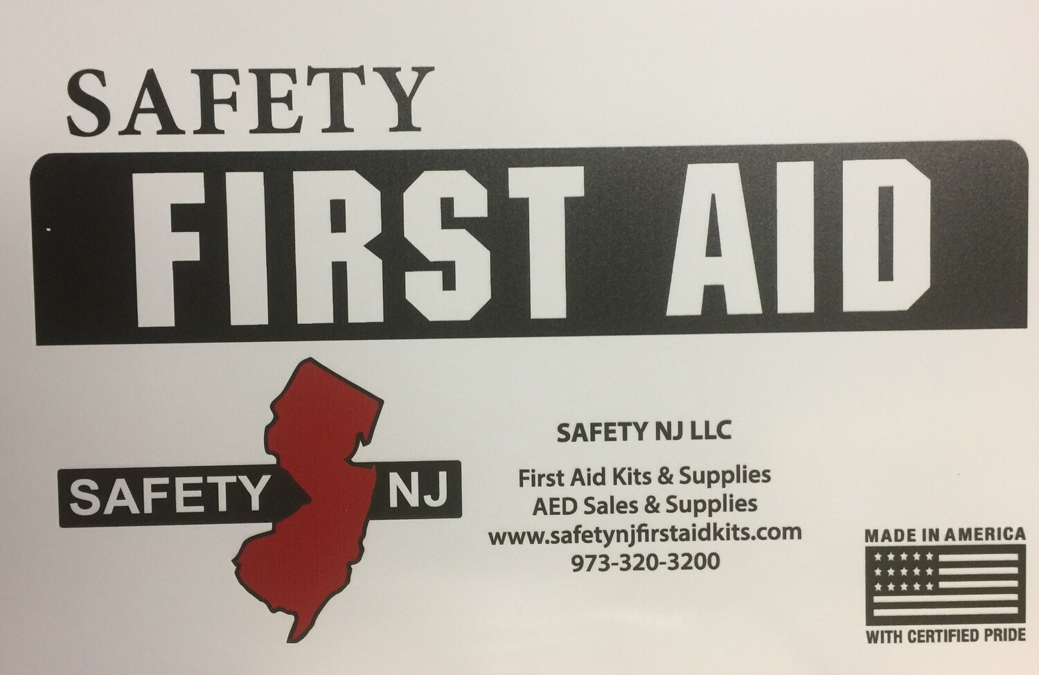 New Jersey Public Recreational Bathing Facilities - Swimming Pool - First Aid Kit  2000 - 5000 sq. ft.
