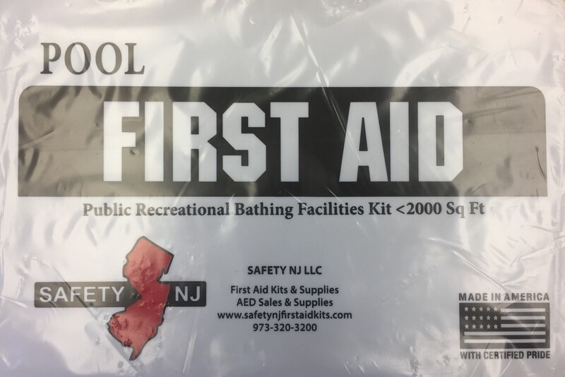 New Jersey Public Recreational Bathing Facilities  - Swimming Pool -First Aid Kit  under 2000 sq. ft.