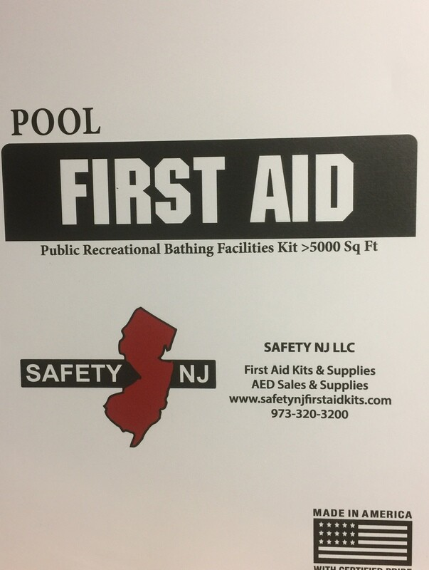 New Jersey Public Recreational Bathing Facilities  - Swimming Pool -First Aid Kit OVER 5000 sq. ft.