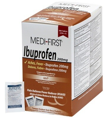 Medi-first Ibuprofen 50 packages - 2 per pack 80833