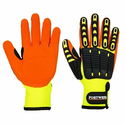 GLOVES A721 - Anti Impact Grip Glove - Nitrile Yellow/Orange