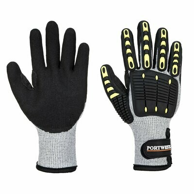 GLOVES A729 - Anti Impact Cut Resistant Therm Glove Grey/Black