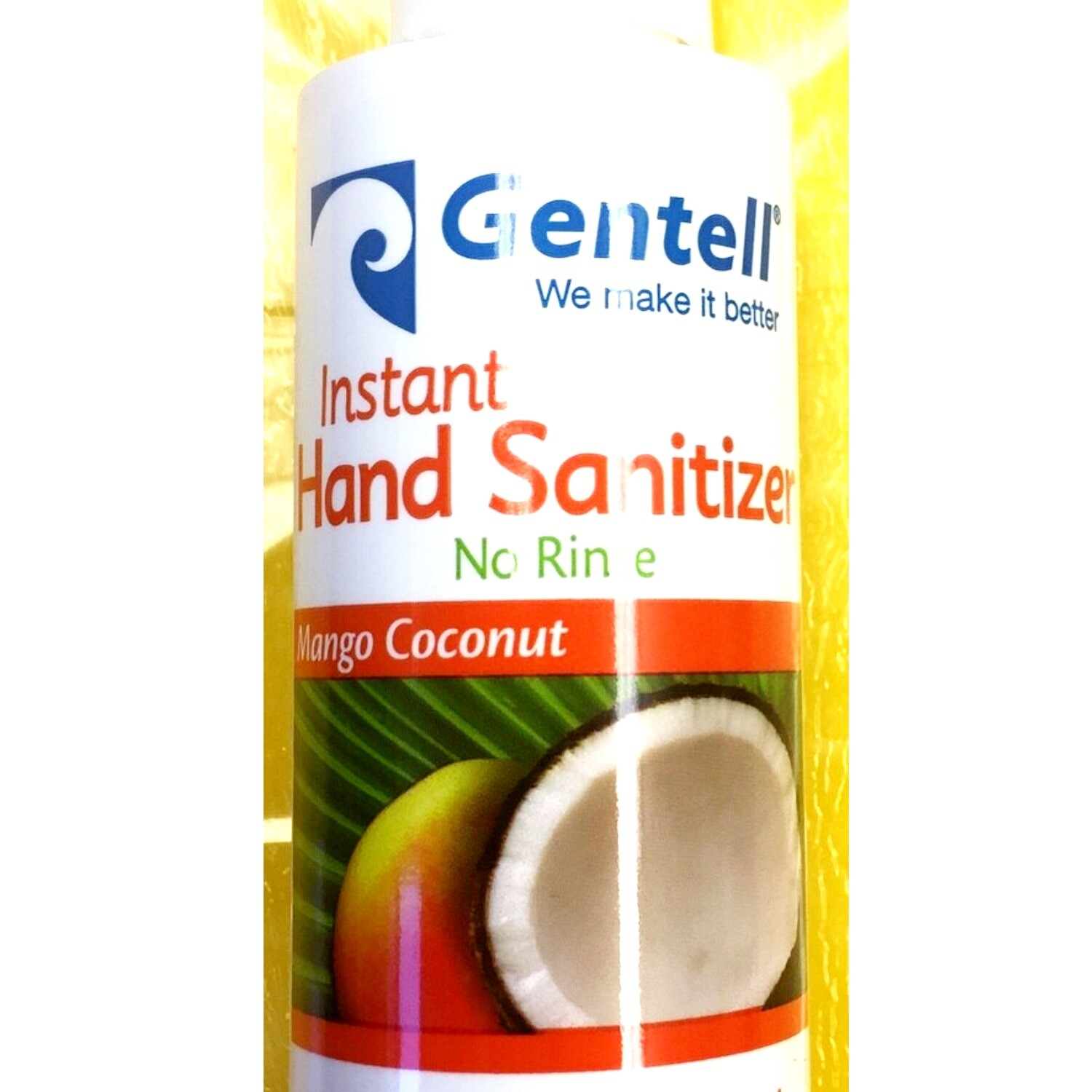 Hand Sanitizer - Gentell Instant Hand Sanitizer 4 ounce squeeze bottle Mango/Coconut
