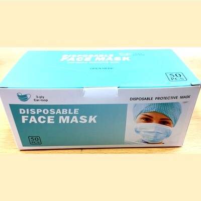 Face Mask Disposable  Box of 50
