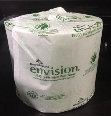 Toilet Paper - Georgia Pacific envision white 2 ply (Bath Tissue) 19880