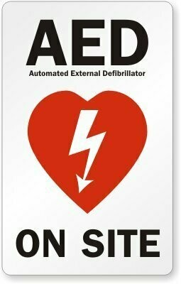 AED Window Decal - Facility Sticker