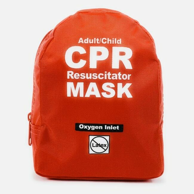 CPR MASK - Adult/Child CPR Mask in Soft Case – RED