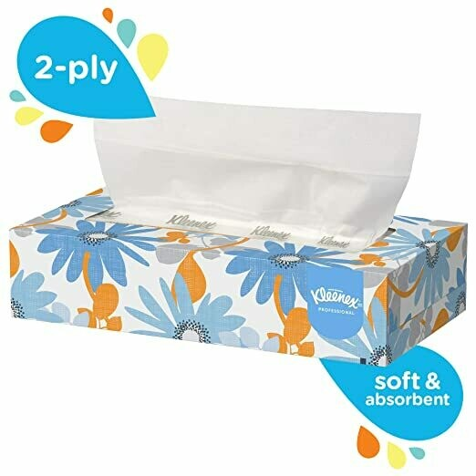 Kleenex Professional Facial Tissue for Business (03076), Flat Tissue Boxes