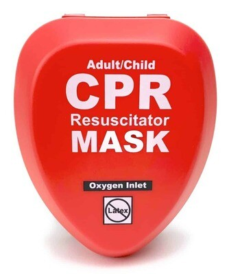CPR MASK - Adult/Child CPR Mask in Hard Case – RED