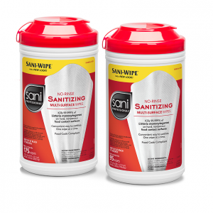 Sani Professional No-Rince Sanitizing Wipes 95 Wipes Per Canister (sold individually)