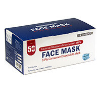 Non-Woven 3-Ply Consumer Mask - 50 Pack