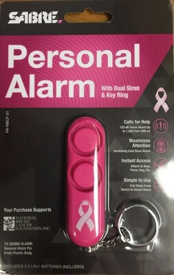 SABRE Personal Alarm with Dual Siren & Key Ring