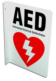 AED 2 Way Wall Sign